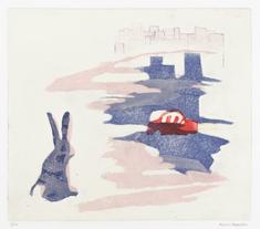 Hare (med röd bil)