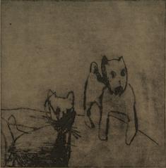 Hundar (två hundar)