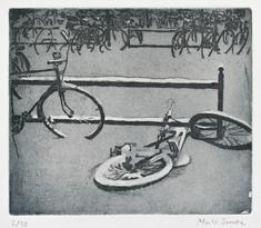 Cykelparkering (blå)