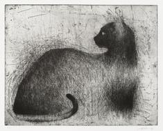 Katt -98 (svart liggande)