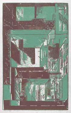 Fasad II   (grönviolett)