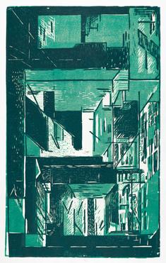 Fasad II   (grön)