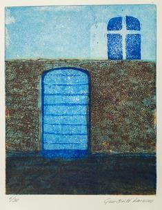 Blå port