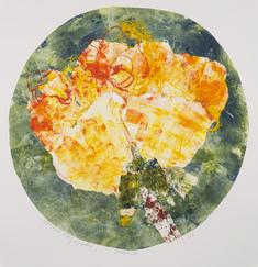 utan titel    (gul blomma på grön bakgrund)