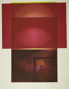 utan titel   (dubbelporträtt röd + gul rand)