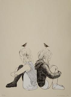 Flickor och fåglar