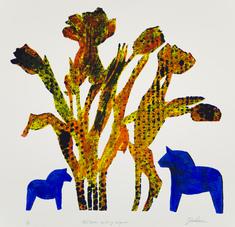 Blå hästar - prickiga tulpaner