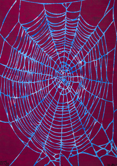 Big Web (red on blue)