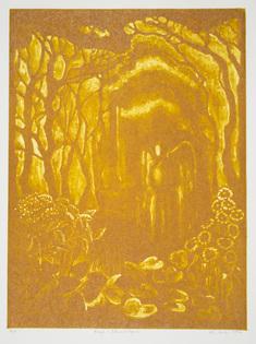 Ängel i Edens lustgård, färgvariant