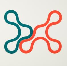 Link 34 grönblå/röd 1