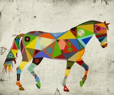 utan titel (brokig häst)