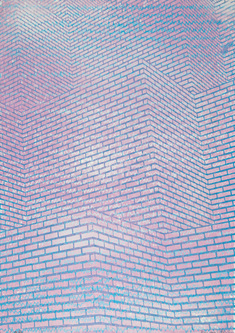 Brick space 2 - blue on pink energy