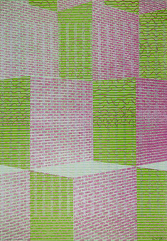 Brick space 1- pink and green energy