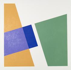 Komposition gul/lila/grön, var. 1