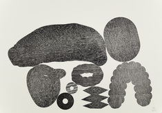 An open Matrix letterpress monoprint (P)