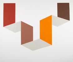 Passage, röd/orange/brun
