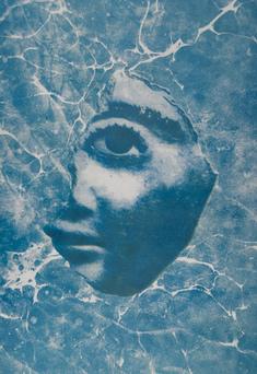 Fragmentiertes Gesicht Eines Stucksarges