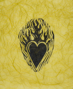 utan titel (hjärta på gult papper)