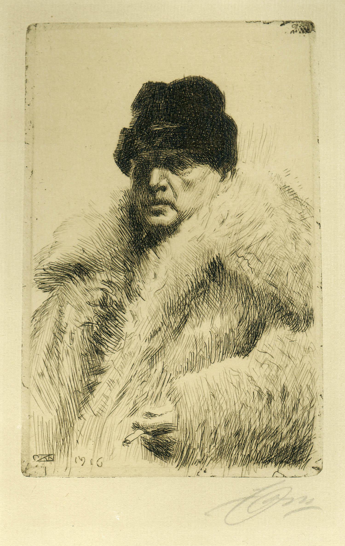 Anders Zorn, Självporträtt 1916